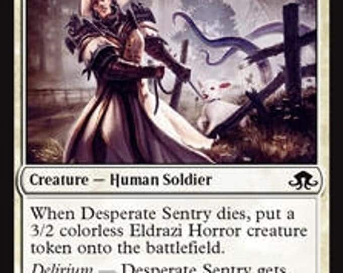 Desperate Sentry - Creature/Human Cleric - Eldritch Moon - Magic the Gathering
