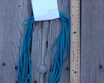 Turquoise blue leather lace , Craft leather lace  , Soft Cowhide lace