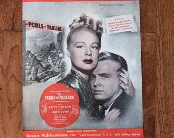 Vintage 1947 Sheet Music, I Wish I Didn't Love You So, Perils of Pauline, Frank Losser, Special Feature, Small Format, FREE SHIPPING