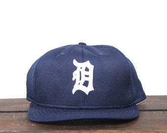 Vintage 80's Detroit Tigers Michigan MLB Trucker Hat Snapback Baseball Cap Made In USA