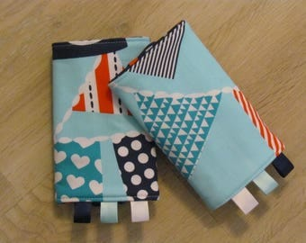 READY to SHIP: Ahoy Matey Nautical Bunting Strap Protectors for Tula, Ergo, Lillebaby and More!