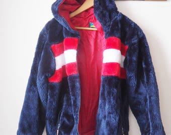 Vintage Polo club fake fur jacket - 90's