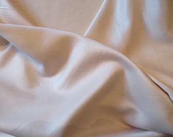 """Duchess Satin Nude color; dull-finish satin, polyester for dressmaking; 60"""" wide; priced per 1 yard"""