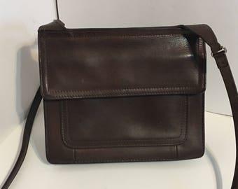Vintage Distressed Leather Fossil Cross Body Handbag