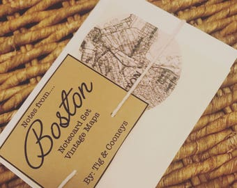 A Note From... Vintage Map Notecards