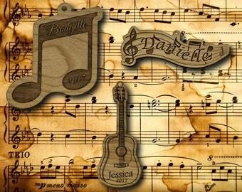 Wooden Musical Ornament