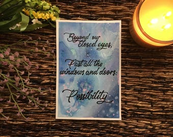 Possibility - Watercolor Painting & Poem