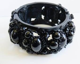 Vintage Ornate Black Metal Clamper Bracelet From Nordstroms