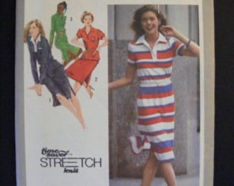 ON SALE 35% OFF Pullover or Two Piece Knit Dress Vintage 1970's Uncut Simplicity Sewing Pattern 9306 Size 8 10 12