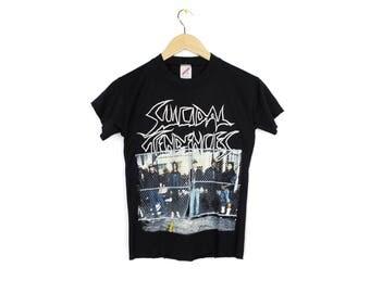 1990 SUICIDAL TENDENCIES t shirt - vintage - you can't bring me down tour