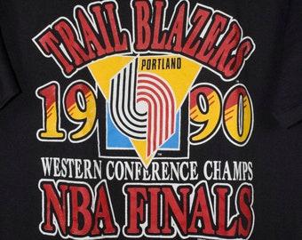 vintage 1990s portland trailblazers nba finals t shirt