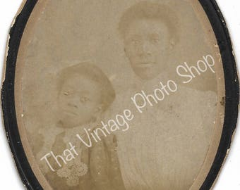 Mother and child Vintage Cabinet Photo
