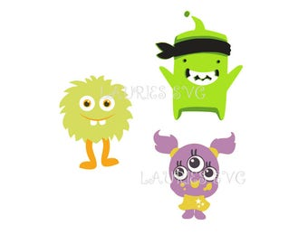 mommie little monsters file- dxf,svg,png,jpg and  silhouette cutting file