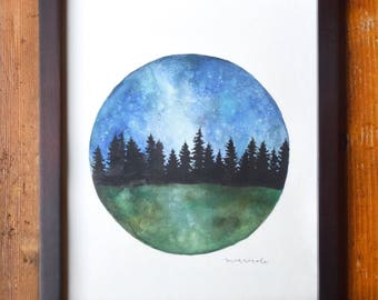 In the Woods - Original Watercolor Painting