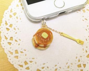 Free Shipping, Pancake Dust Plug, Pancake Dustplug, Pancake Dust Cap, Pancake Dustcap, Mobile Accessory, Dainty Accessory, iPhone Accessory