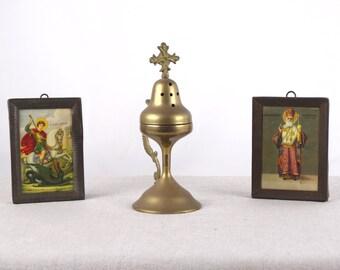 Catholic Censer, Brass Censer, Altar Censer, Religious Gift, Religious Censer, Incense Burner, Religious Art, Orthodox Censer, Shrine Censer