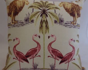 Pillow - Wildlife design feature cushion, complete with cushion pad, zip fastening