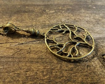 Bronze Necklace, Tree of Life Necklace, Boho Necklace