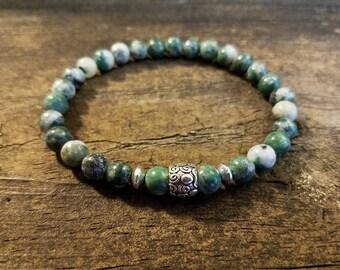Jade Bracelet, Gemstone Bracelet, Ching Hai Jade Bracelet