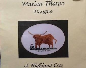 Marion Thorpe Designs - A Highland Cow - Cross Stitch