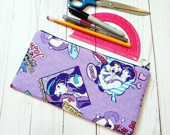 Princess Jasmine Comic Zippered Pencil Case / Large