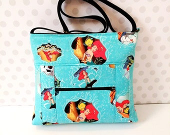Little Mermaid Movie Posters Small Crossbody Bag / Ariel