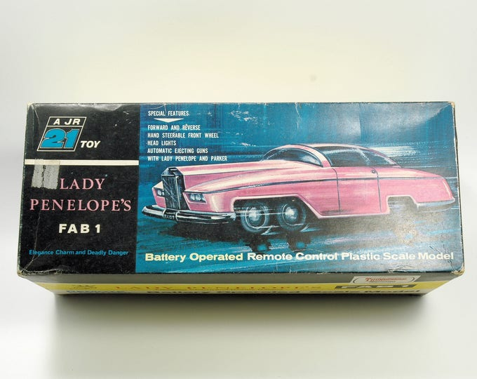 Featured listing image: Thunderbirds Lady Penelope FAB 1 Rolls Royce Battery Operated Ultra Rare   Vintage Toys