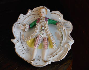 Porcelain Bone China Lace Plate Figurine