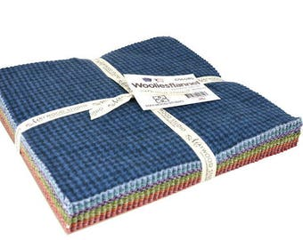 "SALE!  SALE!   WOOLIES Flannel 10"" Layer Cake  - 42 Pieces     by: Maywood Studio"
