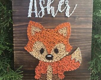 Fox Name String Art Board