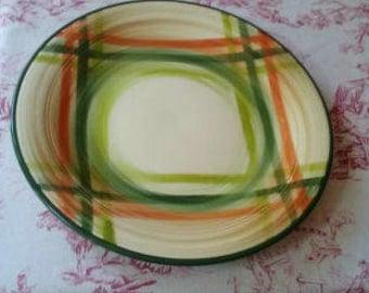 Vintage vernon Kilns California Dinner Plate Plates Homespun Pattern