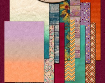 Dashboard B6 Slim, Travelers Notebook, Filofax, Daily Planner: Autumn Joys B