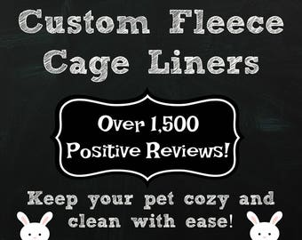 Custom Fleece Cage Liners | Guinea Pig Fleece | Guinea pig cage liner | Rabbit cage liner | Washable Fleece Liners | Cozy and Clean