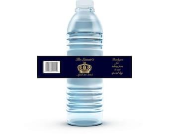 Custom Royal  Water Bottle Labels
