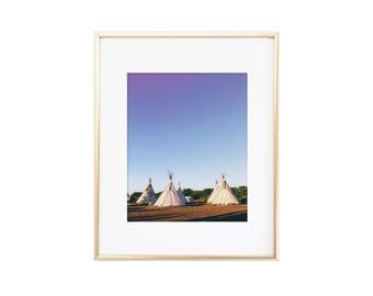 Marfa / Texas / El Cosmico Teepees / Photo Print
