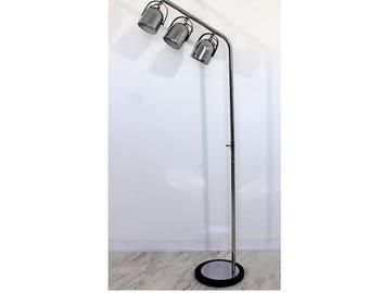 Mid Century Modern Mod 3 Head Bulb Chrome Floor Lamp Sonneman Style 1960s