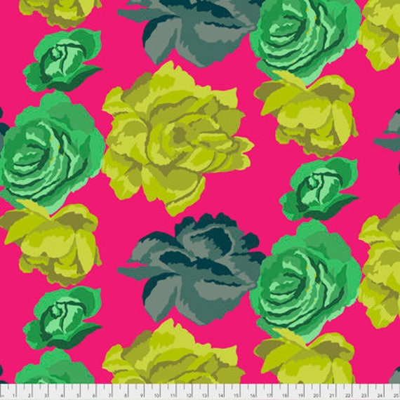 ROSE CLOUDS MAGENTA PWGP164 Kaffe Fassett Sold in 1/2 yd increments