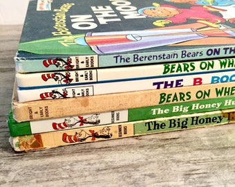 Berenstain Bears Book Lot, Stan and Jan Berenstain, Dr. Seuss Bright and Early Books for Beginning Beginners, Vintage Books, Hardcopy