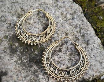Earring hoop Brass ethnic