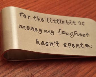 Personalized money clip-Father of the bride gift-Father's day gift-Father money clip-Dad's money clip-Wedding gift for Dad-dad gift