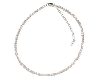 Girls Sterling Silver Necklace with Swarovski Pearls  Comes in Gift Box (Necklace for Girls) (BN-Serenity)