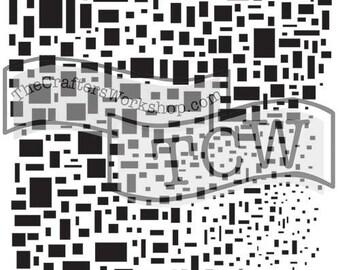 TCW Crafter's Workshop MINI CUBIST 6x6 Stencil Paint Mixed Media # TCW248s