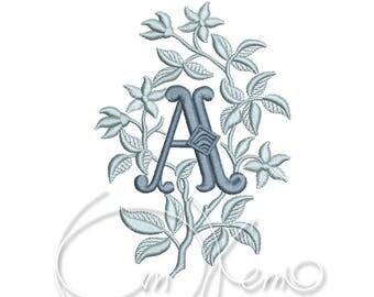 MACHINE EMBROIDERY DESIGN - Monogram letter A