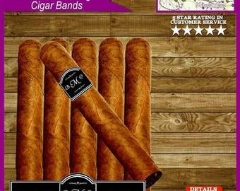 Monogrammed Celebratory Party Favor Cigar Bands, Cigar Labels - Printable Digital File - Personalized for You