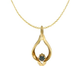 NATURAL Alexandrite Necklace Pendant in 14K Yellow Gold with Certificate!!Free shipping in the USA