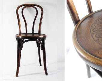 Bistro Chair Vintage, Bentwood Chair, Fischel Chair, Bentwood Furniture, Parisian Cafe Chairs, Wooden Chair Vintage, E648