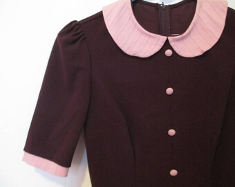 Stop Staring Vintage 60s Style Peter Pan Collar Dress X-Small Small Reproduction XS S