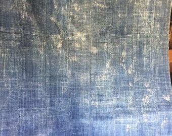 """Burkina faso Africa indigo textiles fabric 4ft 8"""" 3ft 1"""" Width"""