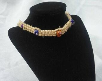 Hemp, handmade, jewelry, necklace, beads,