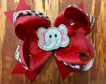 Alabama Crimson Tide inspired bow
